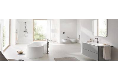 A beautiful white Grohe bathroom