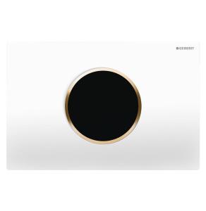 Geberit - Touchless Automatic Flush - Sigma10 - Battery Powered - White and Gold 115.908.KK.1