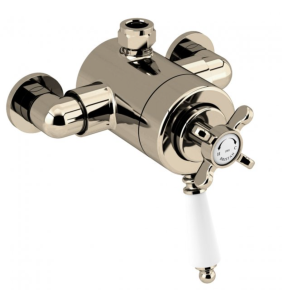 Bristan 1901 Exposed Concentric Top Outlet Shower Valve Only Gold - N2 CSHXTVO G N2 CSHXTVO G
