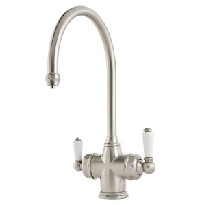 Perrin & Rowe 1937 Polaris 3 in 1 Instant Hot Water Sink Mixer - Satin Brass 1937SB