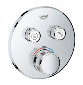Grohe Grohtherm SmartControl Thermostat for Concealed Installation 2 Valves Round - Chrome 29119000 29119000