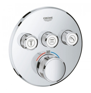 Grohe Grohtherm SmartControl Thermostat for Concealed Installation 3 Valves Round - Chrome 29121000 29121000