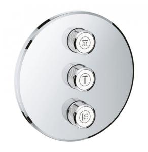 Grohe Grohtherm SmartControl Triple Volume Control Trim Round - Chrome 29122000 29122000