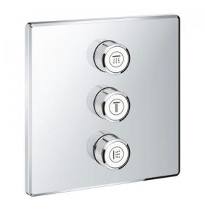 Grohe Grohtherm SmartControl Triple Volume Control Trim Square - Chrome 29127000 29127000