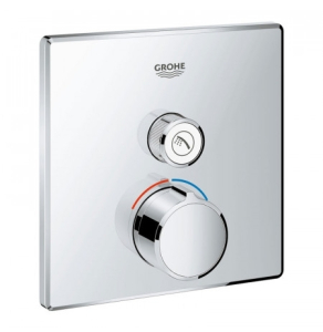 Grohe Grohtherm SmartControl Square Concealed Mixer Trimset 1 Valve - Chrome - 29147000 29147000