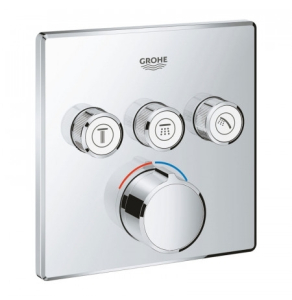 Grohe Grohtherm SmartControl Square Concealed Mixer Trimset 3 Valve - Chrome - 29149000 29149000