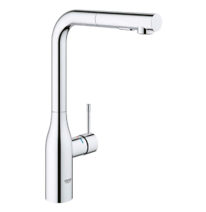 GROHE Essence Footcontrol Electronic Kitchen Sink Mixer with Pull Out Spray Tap 30311000