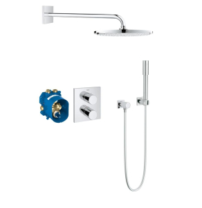 Grohe Grohtherm 3000 Concealed Shower System Rainshower Cosmopolitan 310 OverShower Head - 34627000 34627000