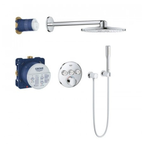 Grohe Grohtherm SmartControl Perfect Round Shower Set with 3 Valve - Chrome - 34709000 34709000