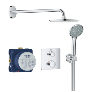 Grohe Grohtherm Perfect Shower Set with Cosmopolitan 210 Rainshower - 34734000 34734000