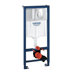 Grohe Rapid SL 3-in-1 WC Toilet Frame, Cosmo Flushplate, Cistern and Fixings, 1130mm High 38721001