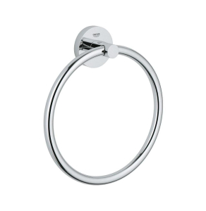 GROHE Essentials towel ring chrome finish, concealed fastening 40365001