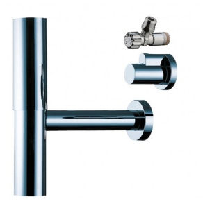 HANSGROHE BOTTLE TRAP FLOWSTAR WITH ANGLE VALVES - 52120800 52120800