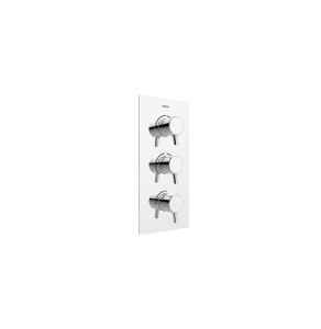 Bristan Prism Recessed Thermostatic Dual Control Shower Valve with Integral Two Outlet Diverter and Stopcock Chrome PM2 SHC3DIV C