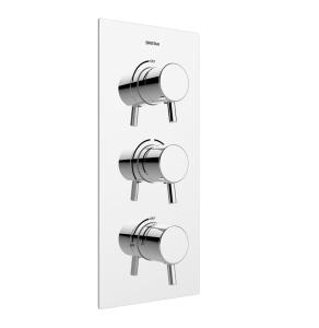 Bristan Prism Recessed Thermostatic Dual Control Shower Valve with Two Integral Stopcocks Chrome PM2 SHC3STP C