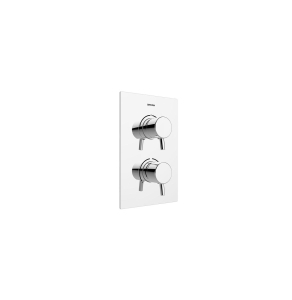 Bristan Prism Recessed Thermostatic Dual Control Shower Valve with Integral Two Outlet Diverter Chrome PM2 SHCDIV C