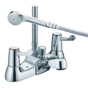 Bristan Lever Bath Shower Mixer Chrome with Ceramic Disc Valves VAL BSM C CD