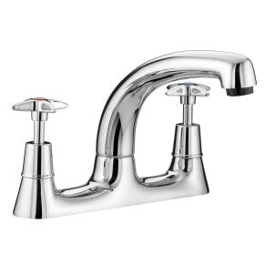 Bristan Crosshead Deck Sink Mixer Chrome VAX DSM C