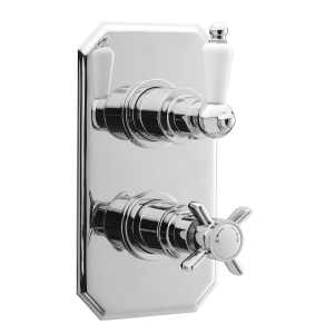 Nuie Edwardian Chrome Traditional Twin Thermostatic Shower Valve - A3033 A3033