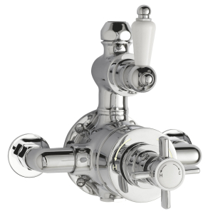 Nuie Edwardian Chrome Traditional Twin Thermostatic Shower Valve - A3056 A3056