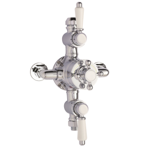Nuie Victorian Chrome Traditional Triple Thermostatic Shower Valve - A3089E A3089E