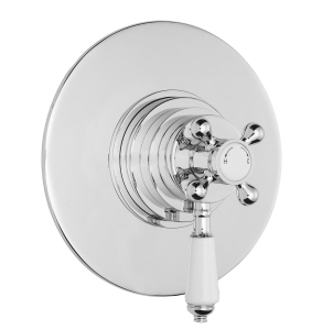 Nuie Victorian Chrome Traditional Dual Thermostatic Shower Valve - A3092C A3092C