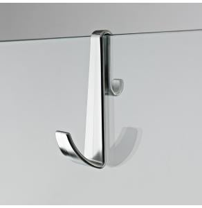 Nuie Chrome Contemporary Enclosure Hook For Frameless Enclosures - ACC003 ACC003