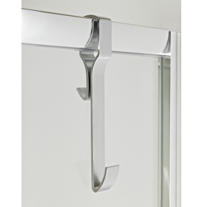 Nuie Polished Chrome Contemporary Hook For Framed Enclosures - ACC004 ACC004