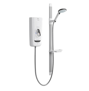 Mira Advance Flex 9.8Kw Electric Shower, White/Chrome 1.1785.004 1.1785.004