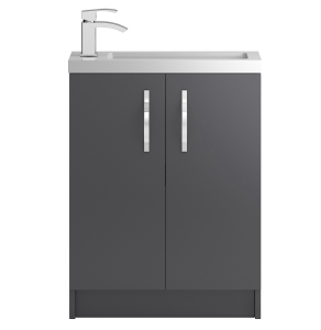 Hudson Reed Apollo Compact Grey Gloss Floor Standing 600 Cabinet & Basin - APL426C APL426C