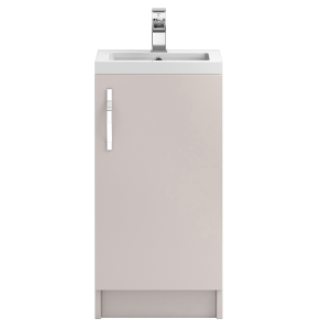 Hudson Reed Apollo Cashmere Floor Standing 400 Cabinet & Basin - APL722 APL722