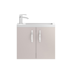Hudson Reed Apollo Compact Cashmere Wall Hung 600 Cabinet & Basin - APL736C APL736C