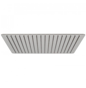 """Vado Aquablade Single Function Easy Clean Slim Line Square Shower Head, 400Mm (16"""") - Aqb-Sq/40-C/P VADO1296"""