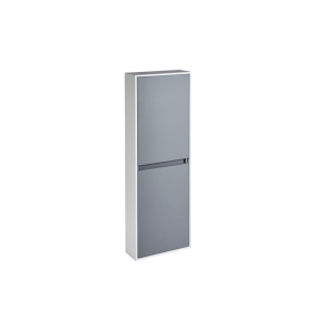 Aquanatural Tall Wall Unit with Solid Surface Panels In Slate Grey - CV29216/421 CV29216/421