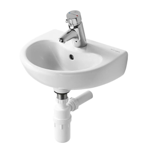 Armitage Shanks Contour 21 Basin with Overflow 400mm Wide - 1 Tap Hole AS10025