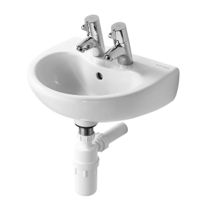 Armitage Shanks Contour 21 Basin with Overflow 400mm Wide - 2 Tap Hole AS10026