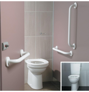 Armitage Shanks Contour 21 Ambulant Doc M Pack with Close Coupled Toilet White - S6958AC AS10244