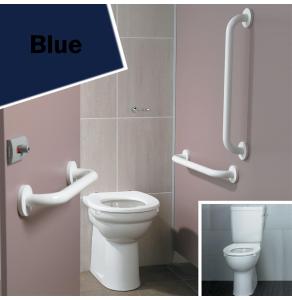 Armitage Shanks Contour 21 Ambulant Doc M Pack with Close Coupled Toilet Blue - S6958LI AS10245