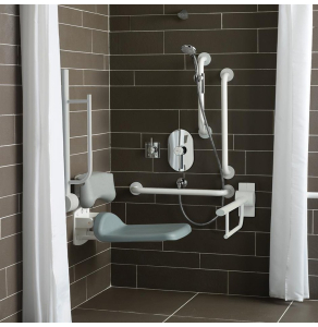Armitage Shanks Contour 21 Shower Room Doc M Pack with Grab Rail - White AS10248