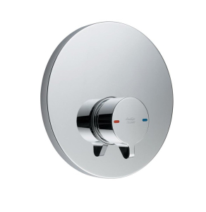Armitage Shanks Contour 21 Self Closing Push Button Shower Valve with Concealing Plate Chrome - B8265AA AS10253