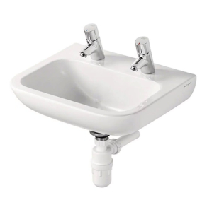 Armitage Shanks Portman 21 Wall Hung Cloakroom Basin No Overflow 400mm Wide - 2 Tap Hole AS10021