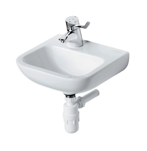 Armitage Shanks Portman 21 Wall Hung Cloakroom Basin No Overflow 400mm Wide - 1 LH Tap Hole AS10018