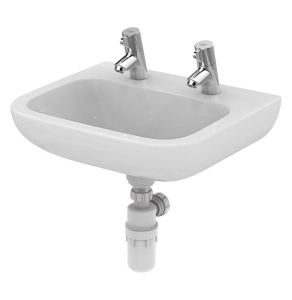 Armitage Shanks Portman 21 Wall Hung Cloakroom Basin No Overflow 500mm Wide - 2 Tap Hole AS10045