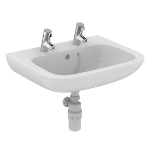 Armitage Shanks Portman 21 Wall Hung Basin with Overflow 600mm Wide - 2 Tap Hole AS10075