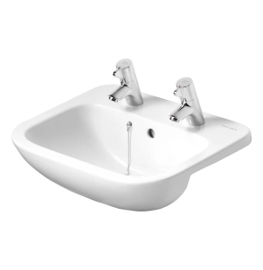 Armitage Shanks Profile 21 Semi Countertop Basin with Overflow 500mm Wide - 2 Tap Hole AS10079
