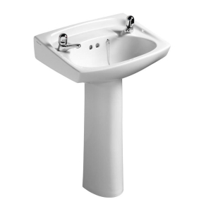 Armitage Shanks Royalex Basin with Full Pedestal 560mm W - 2 Tap Holes AS10013