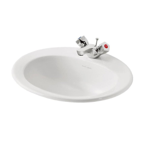 Armitage Shanks Sandringham 21 Inset Countertop Basin 500mm Wide 1 Tap Hole AS10031