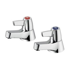Armitage Shanks Sandringham 21 Lever Head Bath Taps Pair - Chrome AS10144