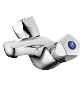 Armitage Shanks Sandringham 21 Dual Control Basin Mixer without Pop Up Waste in Chrome - B9867AA AS10148