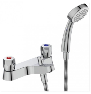 Armitage Shanks Sandringham 21 Two Hole Bath Shower Mixer Tap Chrome - B9871AA AS10157